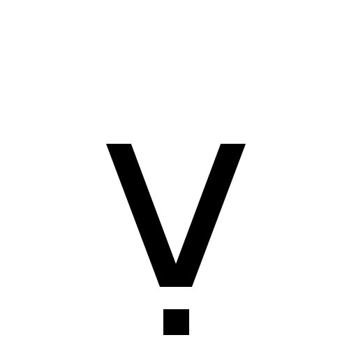 Latin Small Letter V With Dot Below Dejavu Sans Book Graphemica