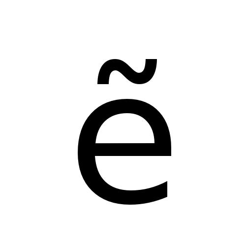 DejaVu Sans, Book - ẽ