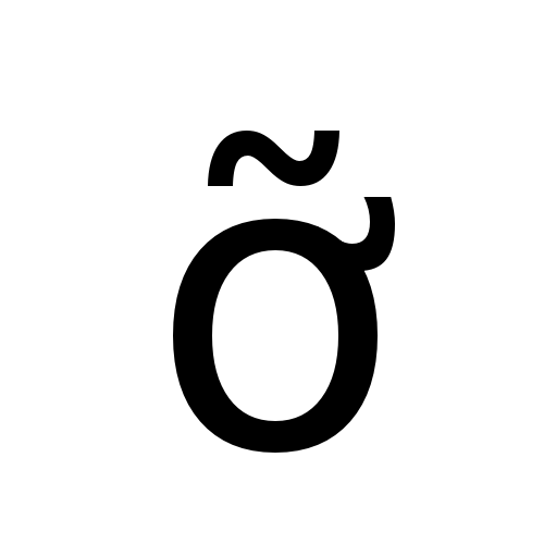 DejaVu Sans, Book - ỡ