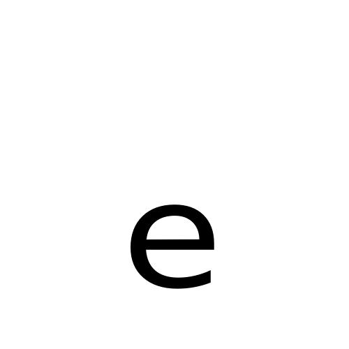 DejaVu Sans, Book - ₑ