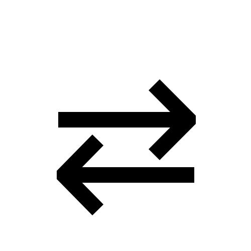 Rightwards Arrow Over Leftwards Arrow Dejavu Sans Book