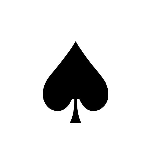 DejaVu Sans, Book - ♠