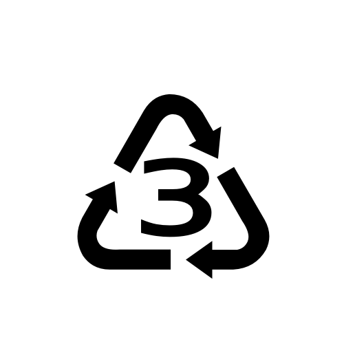 Recycling Symbol For Type 3 Plastics Dejavu Sans Book