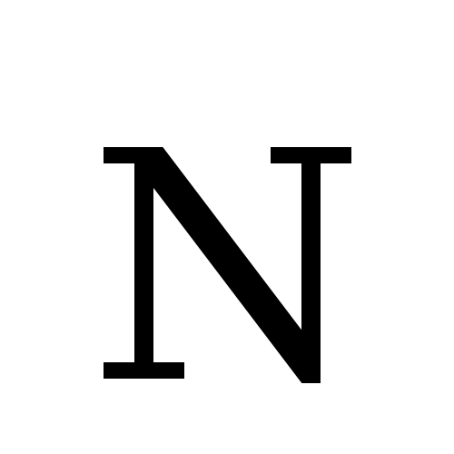 Letter N And S