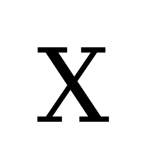 DejaVu Serif, Book - X