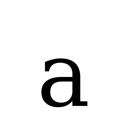 DejaVu Serif, Book - a