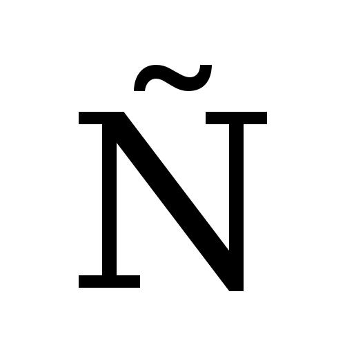 Capital Letter Enye