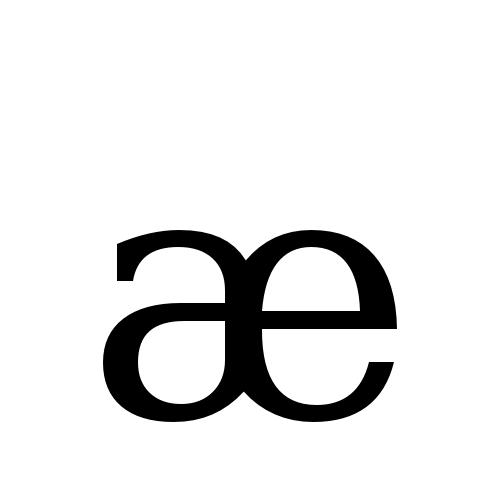 DejaVu Serif, Book - æ