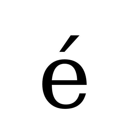 DejaVu Serif, Book - é