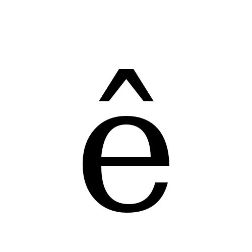 DejaVu Serif, Book - ê