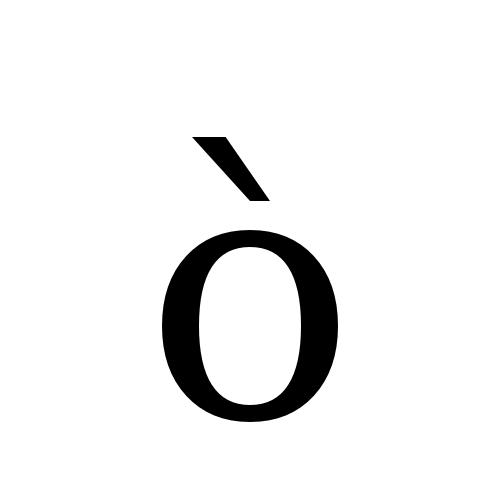 DejaVu Serif, Book - ò