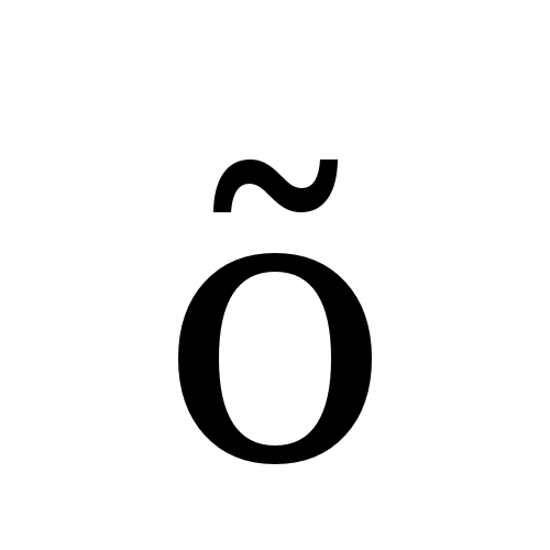 DejaVu Serif, Book - õ