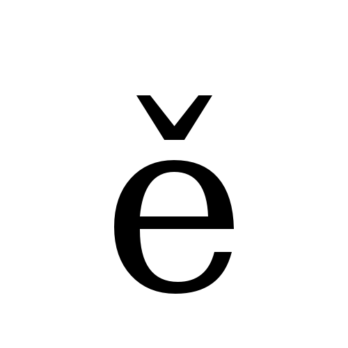 DejaVu Serif, Book - ě