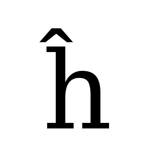 DejaVu Serif, Book - ĥ