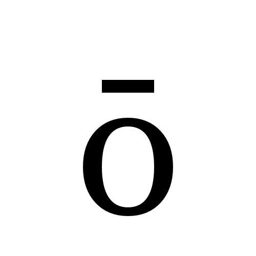 DejaVu Serif, Book - ō