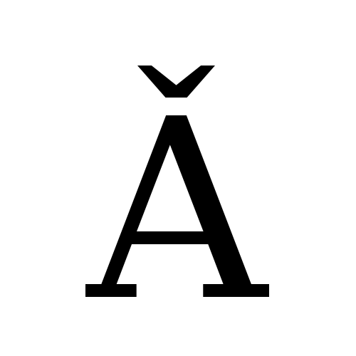 Ǎ | latin capital letter a wit...