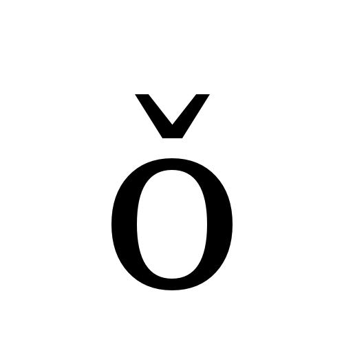 DejaVu Serif, Book - ǒ