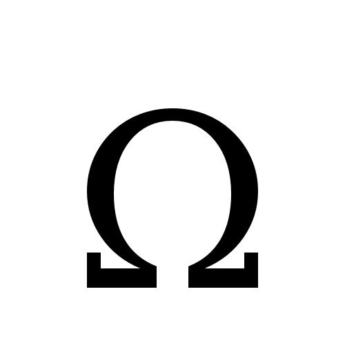 DejaVu Serif, Book - Ω