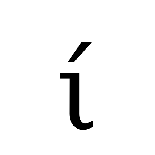 Greek Small Letter Iota With Tonos Dejavu Serif Book Graphemica