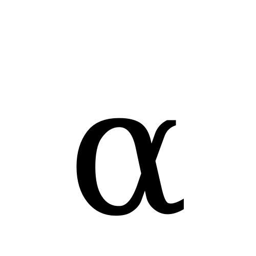 DejaVu Serif, Book - α