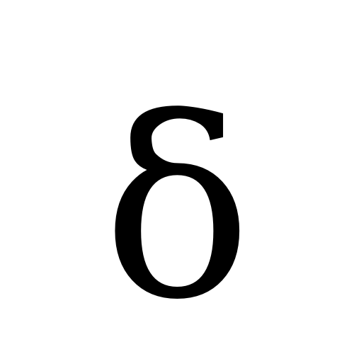 DejaVu Serif, Book - δ