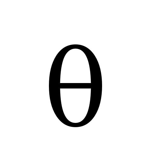 DejaVu Serif, Book - θ