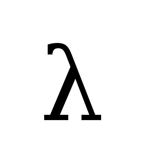 DejaVu Serif, Book - λ
