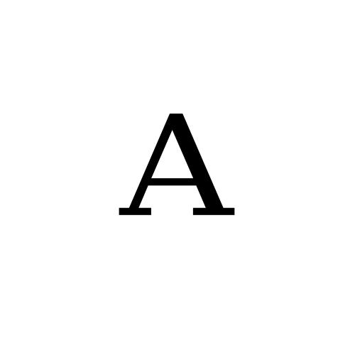 DejaVu Serif, Book - ᴬ