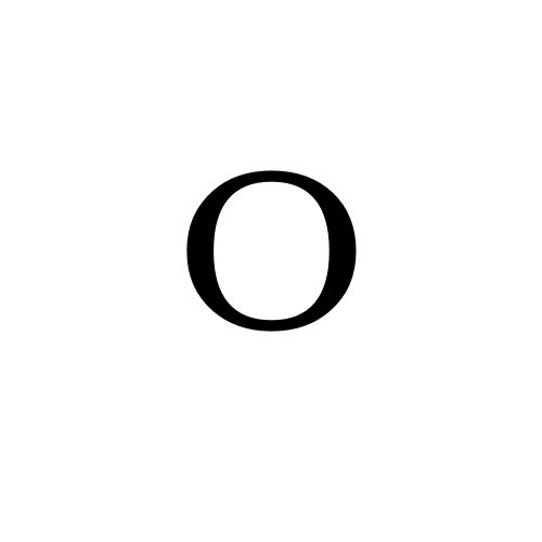 DejaVu Serif, Book - ᴼ