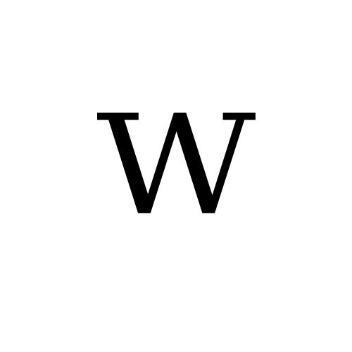 DejaVu Serif, Book - ᵂ