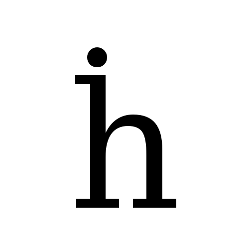 DejaVu Serif, Book - ḣ
