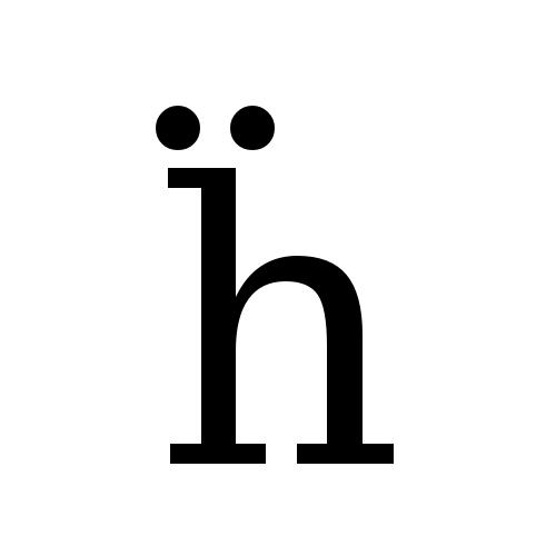 DejaVu Serif, Book - ḧ