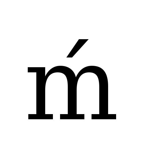 DejaVu Serif, Book - ḿ