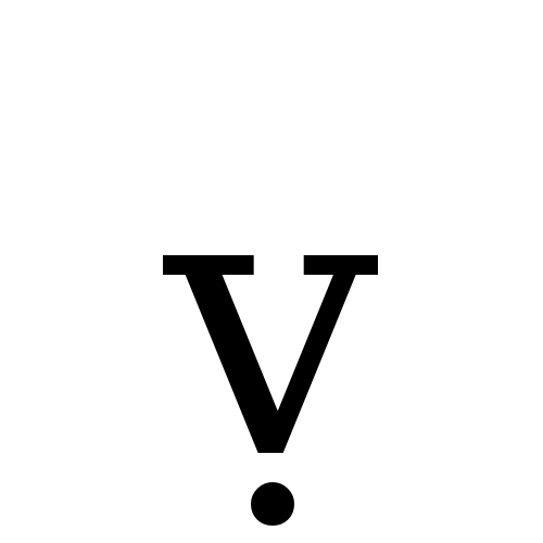 Latin Small Letter V With Dot Below Dejavu Serif Book