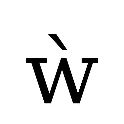 DejaVu Serif, Book - ẁ