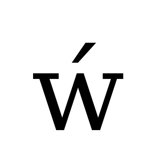 DejaVu Serif, Book - ẃ