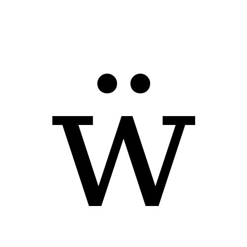 DejaVu Serif, Book - ẅ