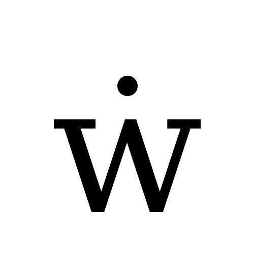 DejaVu Serif, Book - ẇ