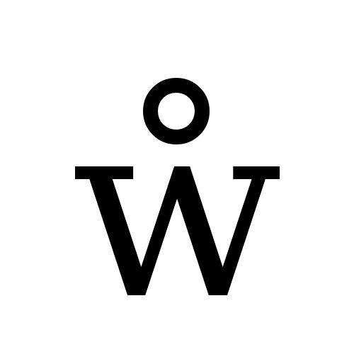 DejaVu Serif, Book - ẘ