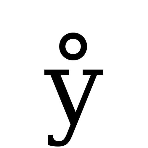 DejaVu Serif, Book - ẙ