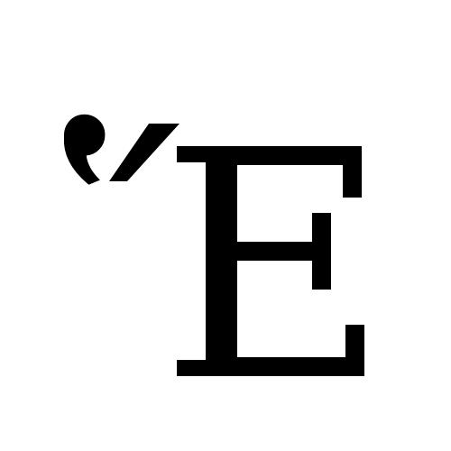 DejaVu Serif, Book - Ἕ