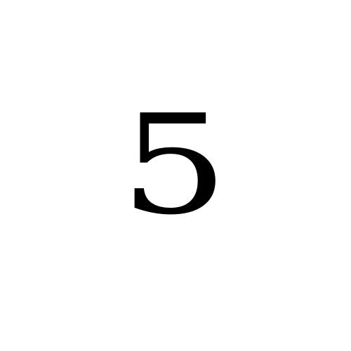DejaVu Serif, Book - ⁵