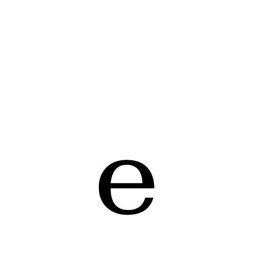 DejaVu Serif, Book - ₑ