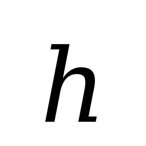 DejaVu Serif, Book - ℎ