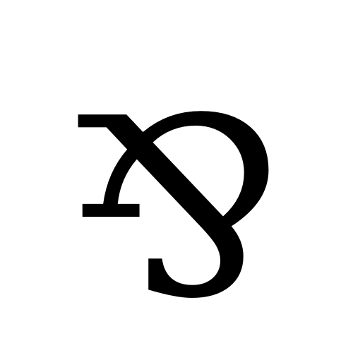 DejaVu Serif, Book - ⅋