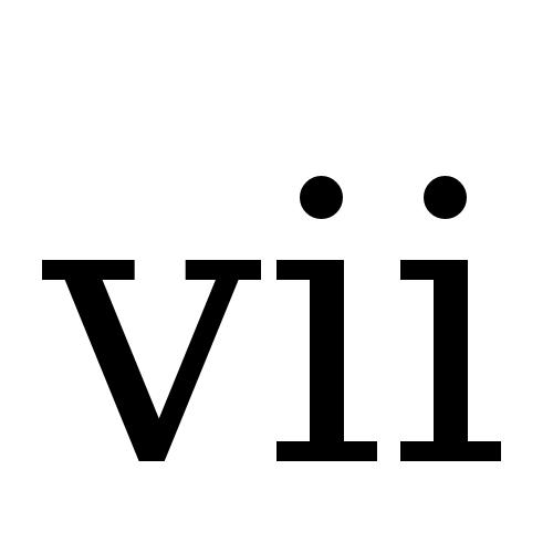 DejaVu Serif, Book - ⅶ