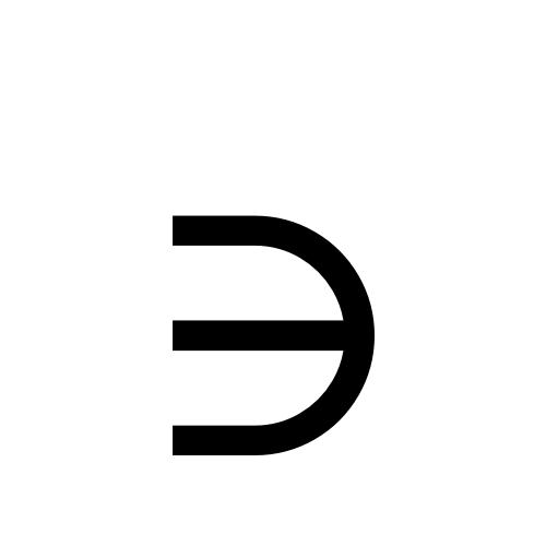 DejaVu Serif, Book - ∋