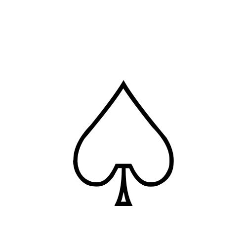 DejaVu Serif, Book - ♤