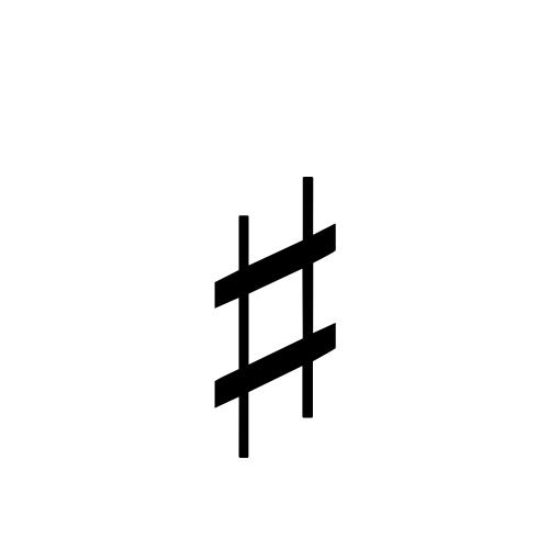 Music Sharp Sign Dejavu Serif Book Graphemica