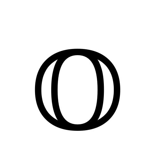 DejaVu Serif, Book - 𝕆
